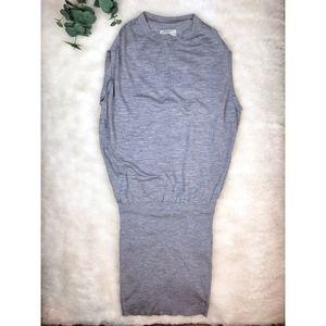 All Saints Gray Knit Bodycon Sweater Dress